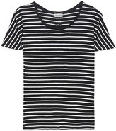 Saint Laurent Striped silk T-shirt