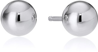 Amazon Essentials Sterling Silver Polished Ball Stud Earrings (4mm)