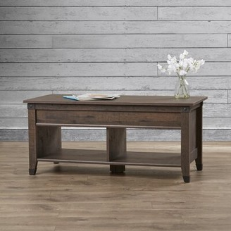 Trent Austin Design Chantrell Lift Top Coffee Table with Storage Color: Washington Cherry