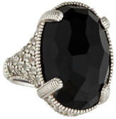 Judith Ripka Onyx & Sapphire Cocktail Ring