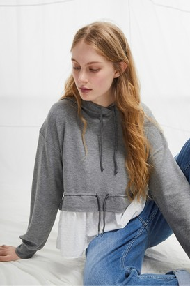 French Connection Cantin Double Face Jersey Hooded Top