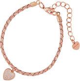 Nakamol Braided Leather Bracelet w/ Heart Charm