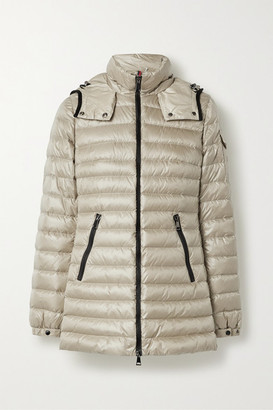 Moncler Menthe Hooded Quilted Shell Down Jacket - Mushroom