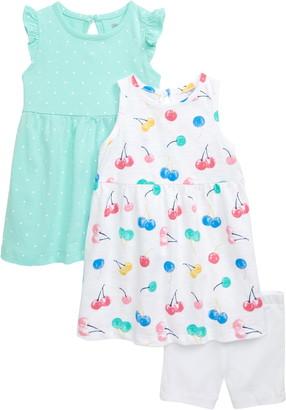 Little Me 3-Piece Dress & Shorts Set