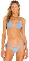 Thumbnail for your product : Frankie's Bikinis Sky Ribbed Bikini Top