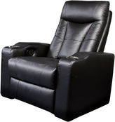 Asstd National Brand Dallas Home Theater Right Faux-Leather Recliner