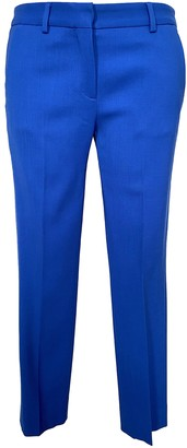 Mauro Grifoni Blue Wool Trousers for Women