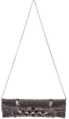 Carlos Falchi Embellished Python Shoulder Bag