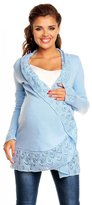 Zeta Ville Fashion Zeta Ville - Womens Maternity Cardigan with Crochet Details Knit Warm - 406c