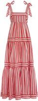Zimmermann Zinnia Stripe Tie Tiered Dress