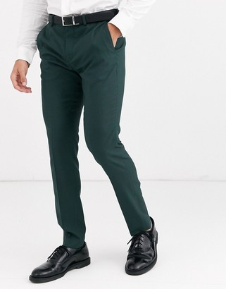 Jack and Jones slim fit suit pants in green