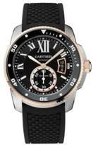 Cartier Calibre de Diver 18K Rose Gold, Stainless Steel & Rubber Strap Watch