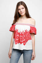 Plenty by Tracy Reese Off-Shoulder Embroidered Top