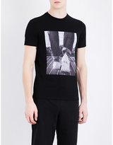Armani Jeans Photographic-print Cotton-jersey T-shirt