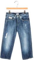 Armani Junior Boys' Distressed Straight-Leg Jeans