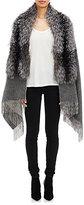 Barneys New York Women's Fox Fur-Collar Cape-GREY