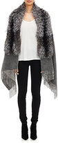 Barneys New York Women's Fox Fur-Collar Cape