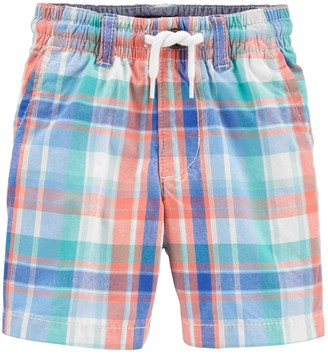 Osh Kosh Toddler Boy Plaid Pull-On Shorts
