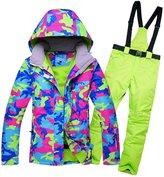 GSOU SNOW Women Colorful Winter Ski Jacket Waterproof Ski Suits