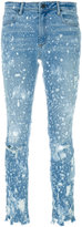 Alexander Wang distressed paint splatter jeans
