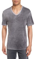 John Varvatos Men's Mini Jacquard V-Neck T-Shirt