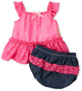 Juicy Couture Newborn Girls) Two-Piece Polka Dot Dress & Bloomers Set
