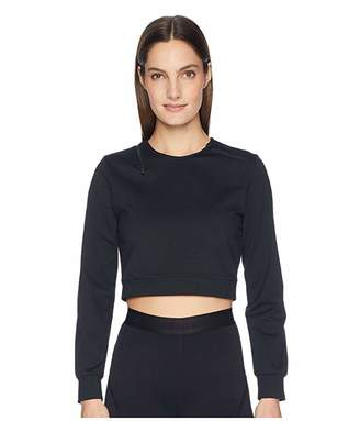 Cushnie Arizona Long Sleeved Crew Neck Top with Wrap Around Zipper