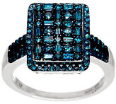Affinity Diamond Jewelry Cluster Design Blue Diamond Ring, Sterling, 1.00 cttw, by Affinity