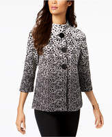 JM Collection Ombre Mandarin-Collar Jacket, Created for Macy's