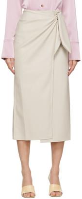 Nanushka Off-White Vegan Leather Amas Skirt