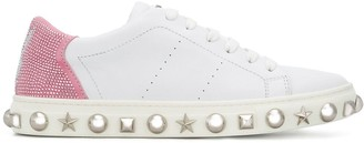 Philipp Plein x Playboy studded sneakers