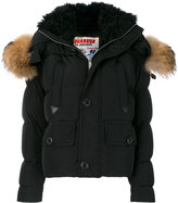 DSQUARED2 fur trimmed padded coat