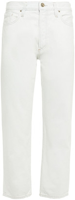 Gold Sign The Relaxed Straight Cropped Mid-rise Straight-leg Jeans