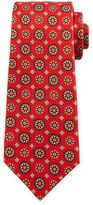 Kiton Circle-Medallion Printed Silk Tie