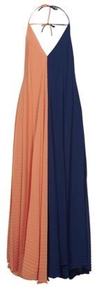 Roland Mouret Tusi long bi-color dress