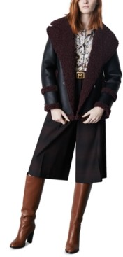 Marella Faux-Fur-Trim Coat