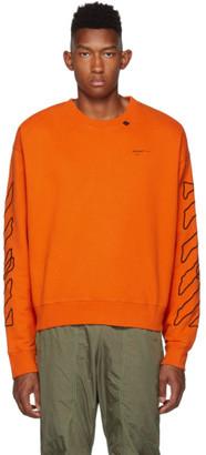 Off-White Orange and Black Abstract Arrows Sweatshirt