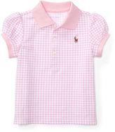 Ralph Lauren Girl Gingham Cotton Mesh Polo Shirt
