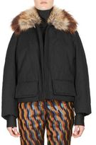 Dries Van Noten Faux Fur Short Swing Coat