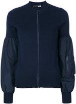 Love Moschino puff sleeve cardigan - women - Polyester/Virgin Wool - 38