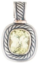 David Yurman Lemon Quartz Albion Enhancer Pendant