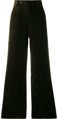 Closed wide-leg tailored trousers
