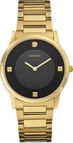 GUESS Men's Diamond Accent Gold-Tone Stainless Steel Bracelet Watch 40mm U0428G1