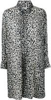 Saint Laurent leopard print shirt dress - women - Viscose - 36