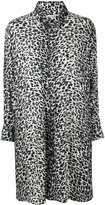 Saint Laurent leopard print shirt dress