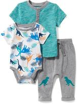 Old Navy Bodysuit, Henley & Pants Set for Baby