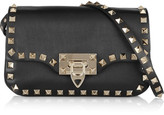 Valentino The Rockstud Leather Shoulder Bag - Black