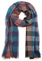 Paul Smith Lightweight Wool Blend Check Scarf