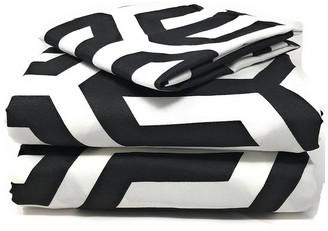 Tache Home Fashion Tache Duvet Covers, Zipper and Ties, Black and White, California King