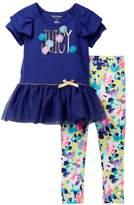 Juicy Couture Ruffle Tunic & Legging Set (Toddler Girls)